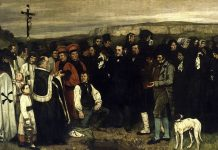 gustave courbet funerale a ornans